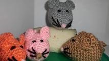 Raton a crochet
