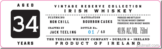 Teeling Single Malt Whiskey 34-Year