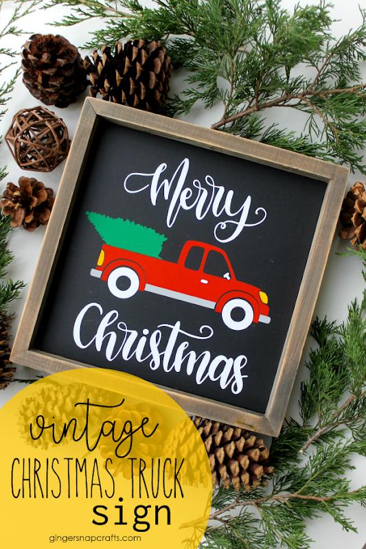 Vintage Christmas Truck Sign #cricut #cricutmade