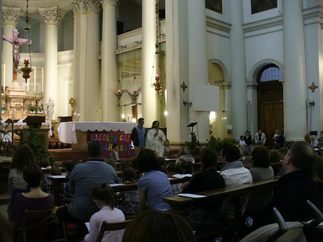 Santa messa animata dai bambini della scuola dell'infanzia parrocchiale San Luigi