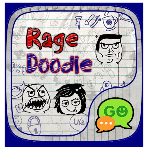(FREE) GO SMS RAGE DOODLE THEME