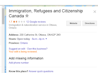 Google Maps sending refugees in Ottawa Canada to wrong building