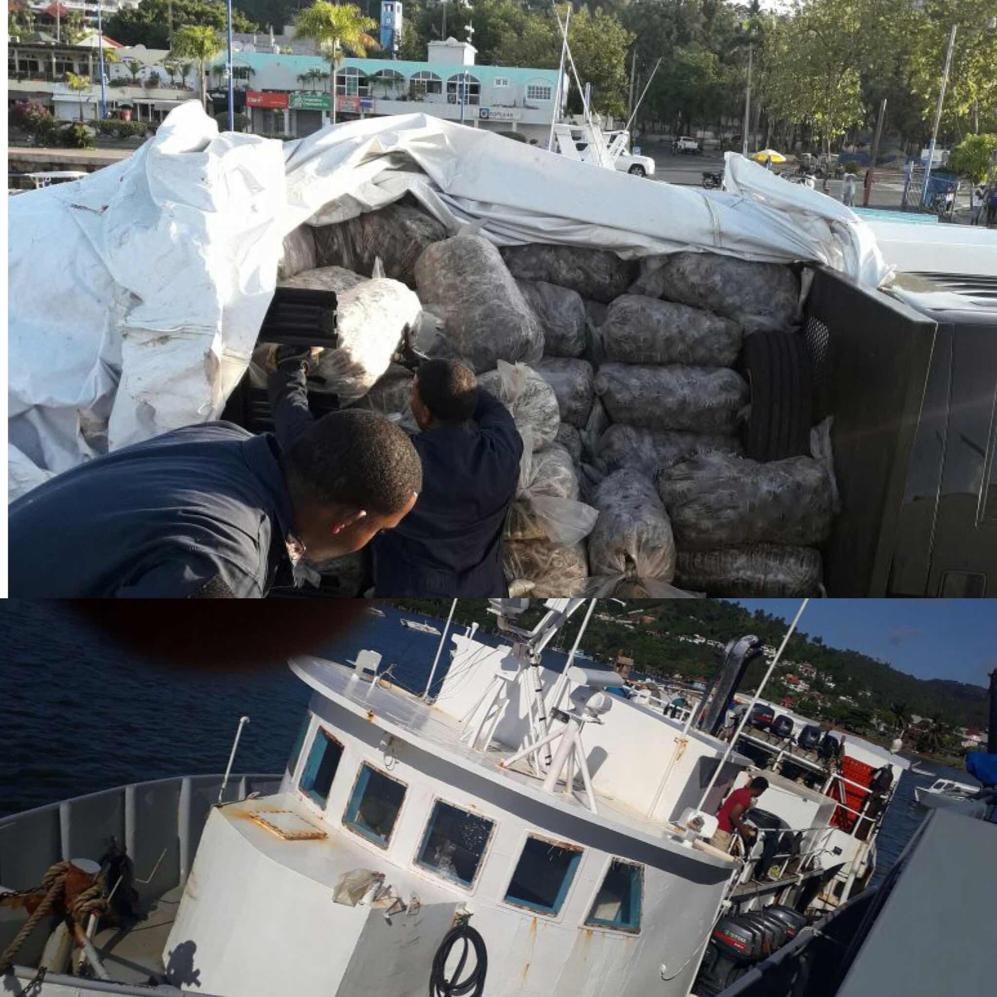 MIEMBROS DE LA ARMADA DE REPÚBLICA DOMINICANA CAPTURAN CARGAMENTO ILEGAL DE LANGOSTA