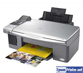 How to reset Epson DX6000 printer