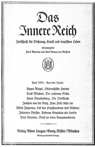 Das Innere Reich, April 1935 (Titelblatt)