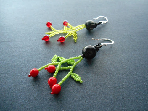 Cherry Bomb Beaded Earring Tutorial