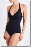 Melissa Odabash Black Halterneck One Piece Swimsuit