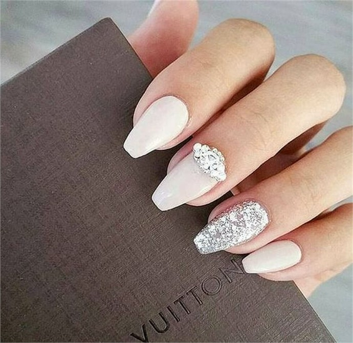 33 majestic wedding nail art designs trends 2018