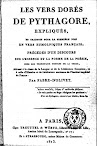 Les Vers Dores de Pythagore (1813,in French)