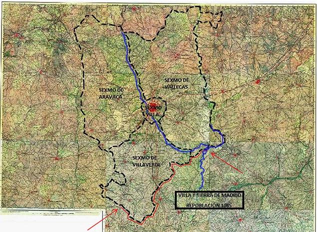 Linde de la Tierra de Madrid que contempla el privilegio de 1239 - Fernando III