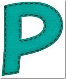 p letras verdes