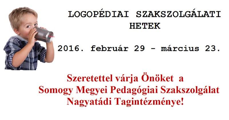 Logopédiai Szakszolgálati Hetek - Nagyatád 2016