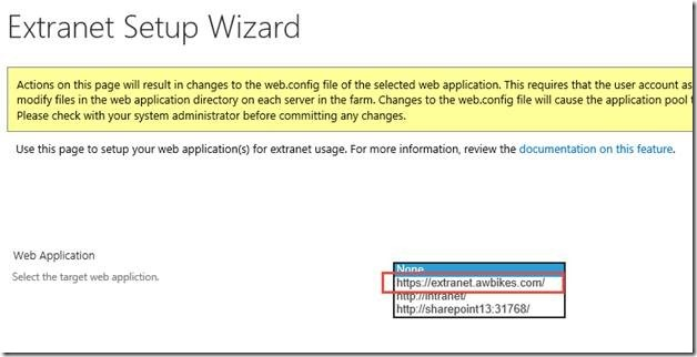 ExCM Extranet Setup Wizard