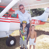 The boys with MAF pilot friend Eivind