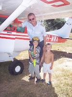 The boys with MAF pilot friend Eivind