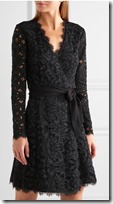 Diane von Furstenberg corded lace wrap dress