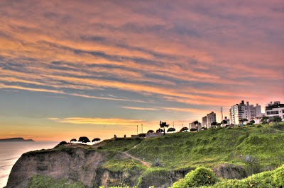 Sunset over Miraflores (HDR)