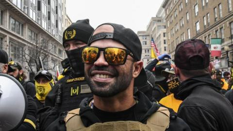 Leader of American racist group, Proud Boys sentenced to prison for burning Black Lives Matter flag in protests against Biden's win