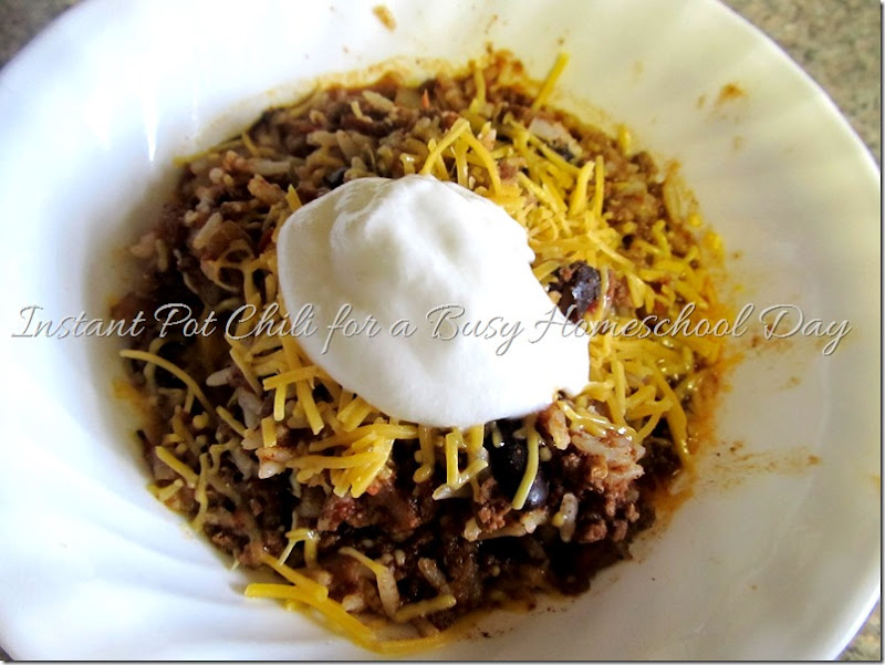 Instant Pot Chili for a Busy Day at Homeschooling Hearts & Minds