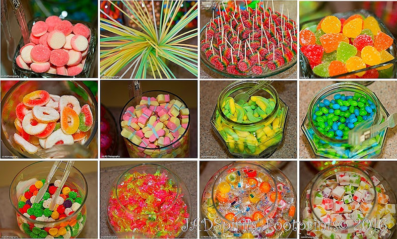 The colorful candies of the Candy Bar at Plantationville Resort