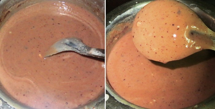 Homemade Chocolate Ice Cream Recipe with No Eggs - Eggless Chocolate Ice Cream Recipe with step by step pictures written by Kavitha Ramaswamy of Foodomania.com