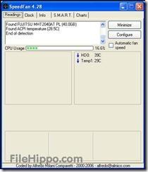 برنامج SpeedFan 4.52 لمراقبة درجة حرارة البروسيسور والهارد لويندوز -1