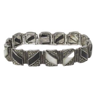 Sterling Silver Mother Of Pearl Bracelet
