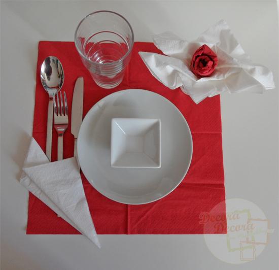 Cómo doblar las servilletas para San Valentín.