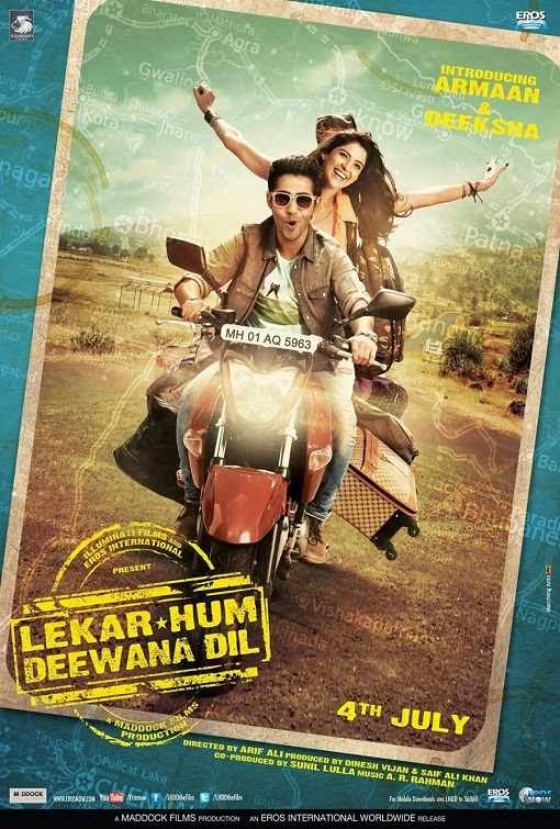 Poster Of Hindi Movie Lekar Hum Deewana Dil (2014) Free Download Full New Hindi Movie Watch Online At Alldownloads4u.Com