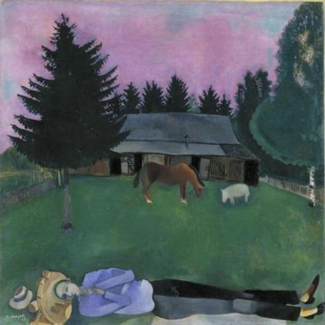 The Poet Reclining 1915 Marc Chagall 1887-1985 Purchased 1942 http://www.tate.org.uk/art/work/N05390