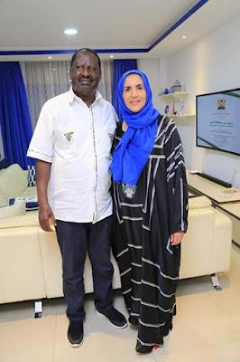 Photos Suleiman Shahbal with Raila Odinga in Mombasa. PHOTOS | BMS