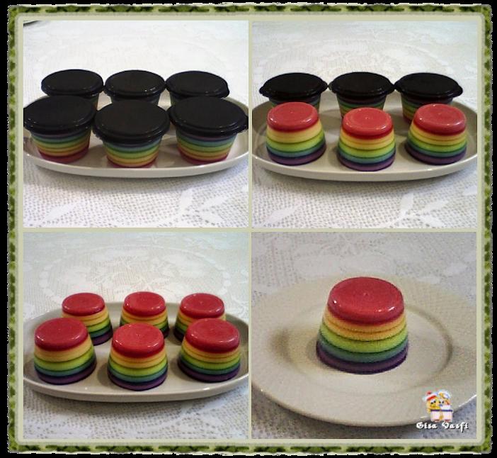 Gelatina arco-iris individual