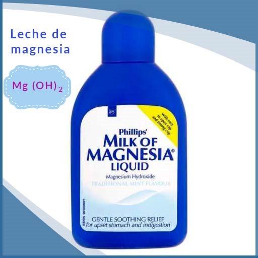 leche de magnesia - hidroxido de magnesio