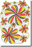 365 Zentangle Yellow and Red