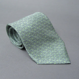 Hermès Green and Blue Tie