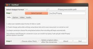 Outreel su Ubuntu 13.04 Raring