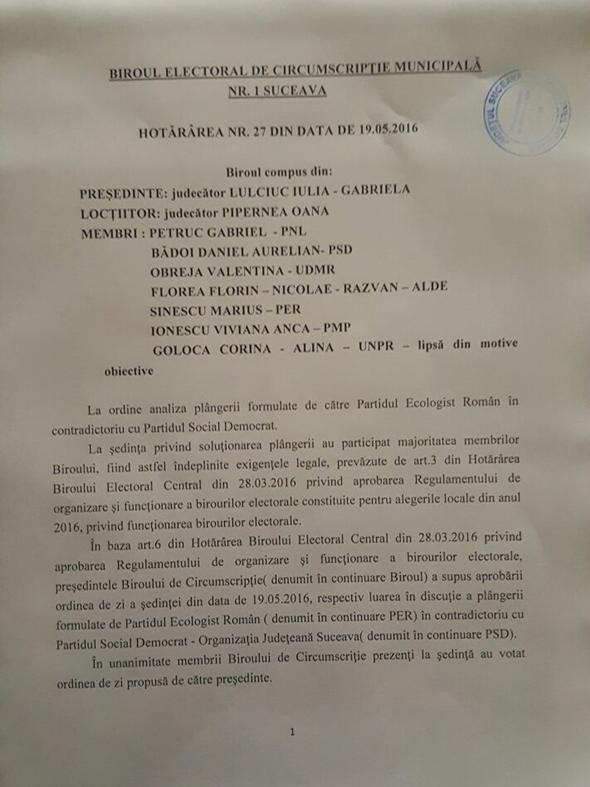Cum s-a dat de gol PSD Suceava că a încălcat în mod voit legea electorală