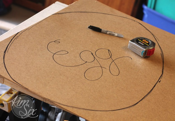 Template for wooden easter egg