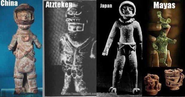 Τι είδαν και έφτιαξαν τα παράξενα αγαλματίδια, άγνωστοι μεταξύ τους αρχαίοι πολιτισμοί;