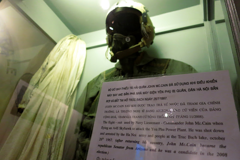 John McCain's flight suit on display at Hoa Lo Prison (the Hanoi Hilton)