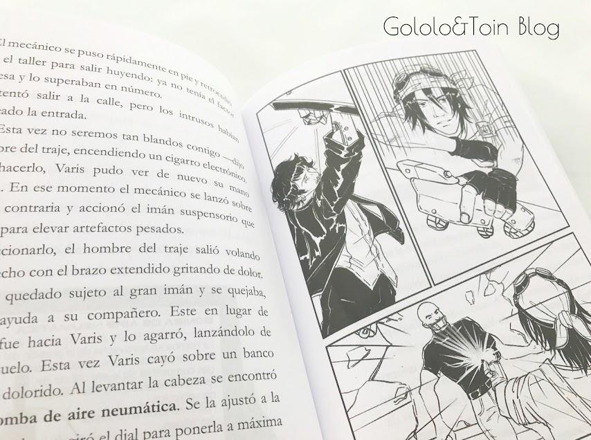 ilustraciones anime de Crónicas mecánicas