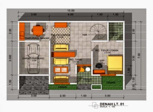 Gambar Dan Denah Rumah Minimalis Sederhana Gallery Taman