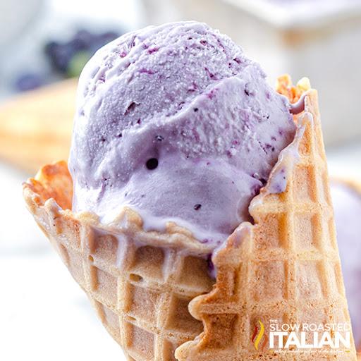 No-Churn Blueberry Ice Cream Recipe