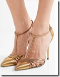SJP by Sarah Jessica Parker metallic leather pumps