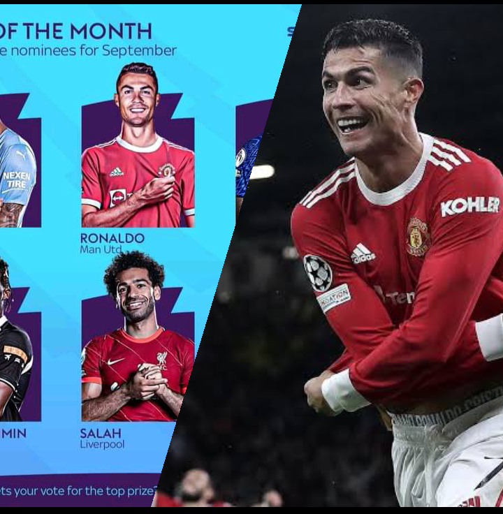 EPL Player of the Month: Cristiano Ronaldo Nominated, Faces Fierce  Competition from Man City, Liverpool and Chelsea Players.