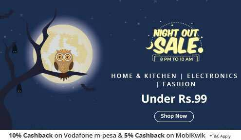 (Ended) ShopClues NightOut Sale - Buy Products at Rs.99 Only + Extra Cashback