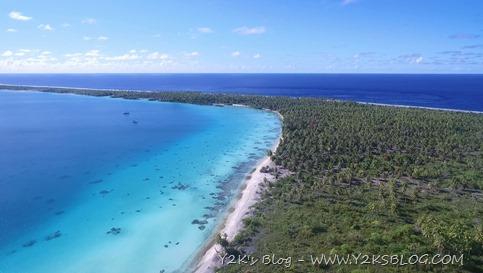 Toau vista drone - Y2K e Obiwan ancoraggio Sud Est