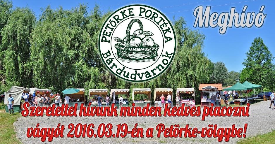 Az év első Petörke Portéka piaci napja - 2016