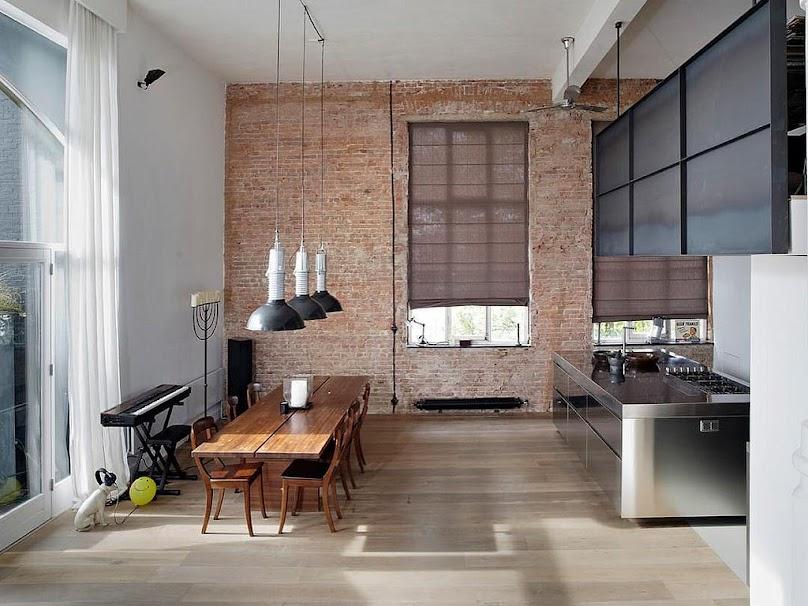 Mieszkanie w stylu industrialnym.