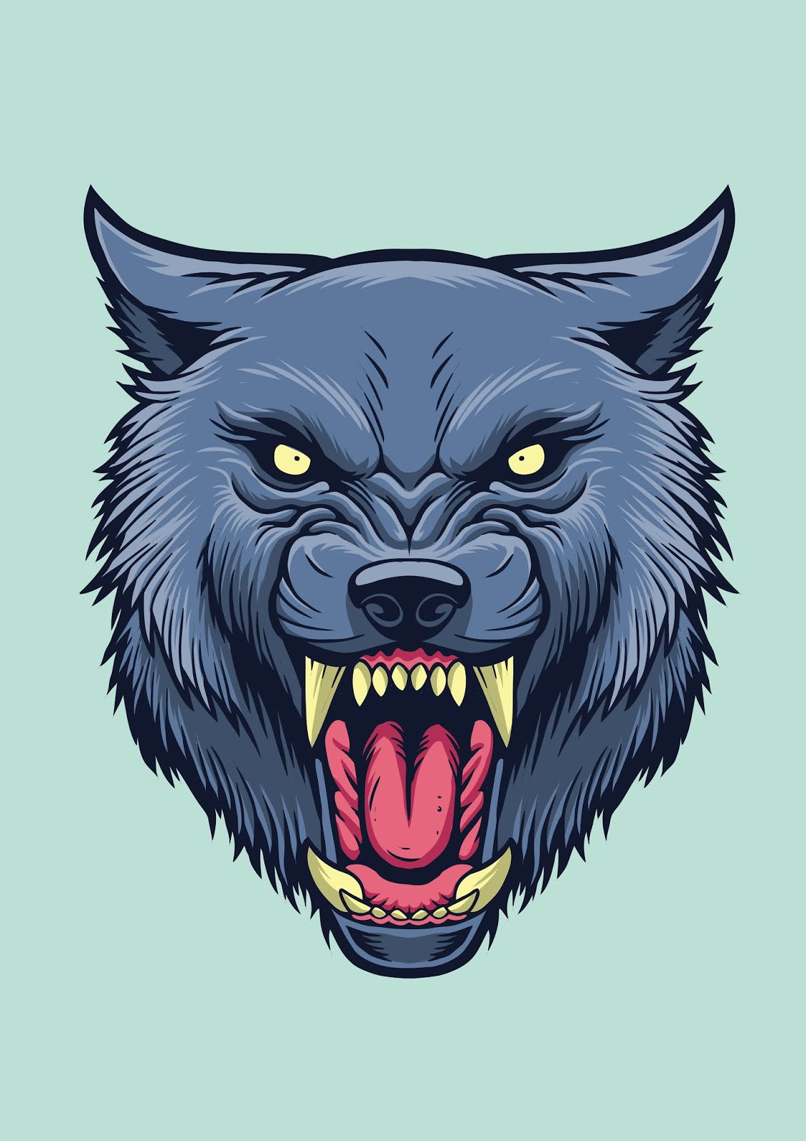 Angry Wolf Head Free Download Vector CDR, AI, EPS and PNG Formats